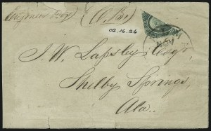 Sale Number 907, Lot Number 2939, General Issues On-Cover (No. 13, Balance)20c Green, Diagonal Half Used as 10c (13c), 20c Green, Diagonal Half Used as 10c (13c)