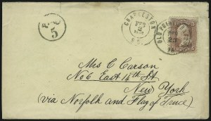 Sale Number 907, Lot Number 3058, Flag-of-Truce and PrisonersCharleston S.C. Feb. 2, 1862, Charleston S.C. Feb. 2, 1862
