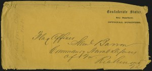 Sale Number 907, Lot Number 3077, Flag-of-Truce and PrisonersConfederate States, Navy Department, Official Business, Confederate States, Navy Department, Official Business