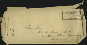Sale Number 907, Lot Number 3078, Flag-of-Truce and PrisonersConfederate States, Navy Department, Official Business, Confederate States, Navy Department, Official Business