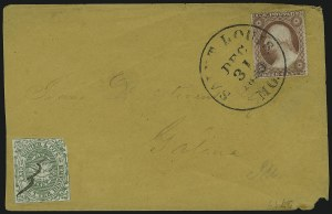 Sale Number 908, Lot Number 4977, Local Posts (Bdady thru Whittelsey)Squier & Co. City Letter Dispatch, St. Louis Mo., 1c Green, Imperforate (132L1), Squier & Co. City Letter Dispatch, St. Louis Mo., 1c Green, Imperforate (132L1)