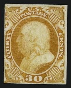 Sale Number 909, Lot Number 1061, 1851-56 Issue (Toppan, Carpenter, Casilier & Co.)1c-90c 1857 Reprints, Plate Proofs on Card (40P4-47P4), 1c-90c 1857 Reprints, Plate Proofs on Card (40P4-47P4)