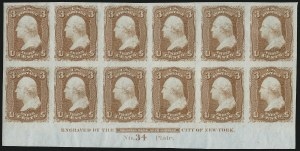 Sale Number 909, Lot Number 1119, 1867 Essays (National Bank Note Co.)3c Rose, Trial Color Proofs on Experimental Paper (65TC5), 3c Rose, Trial Color Proofs on Experimental Paper (65TC5)