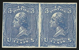 Sale Number 909, Lot Number 1133, 1867 Essays (National Bank Note Co.)National Bank Note Co., 3c Washington, Plate Essays on White Wove, Imperforate and Gummed (79-E23i), National Bank Note Co., 3c Washington, Plate Essays on White Wove, Imperforate and Gummed (79-E23i)