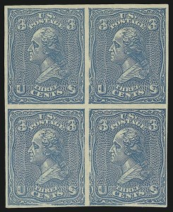 Sale Number 909, Lot Number 1134, 1867 Essays (National Bank Note Co.)National Bank Note Co., 3c Washington, Plate Essays on White Wove, Imperforate and Gummed (79-E23i), National Bank Note Co., 3c Washington, Plate Essays on White Wove, Imperforate and Gummed (79-E23i)