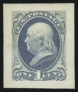 Sale Number 909, Lot Number 1233, 1870 Issue (National Bank Note Co.)1c Ultramarine, Panama-Pacific Small Die Proof on Wove (145P2a), 1c Ultramarine, Panama-Pacific Small Die Proof on Wove (145P2a)