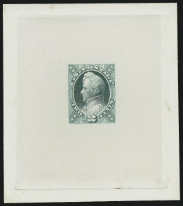 Sale Number 909, Lot Number 1235, 1870 Issue (National Bank Note Co.)National Bank Note Co., 2c Dim Dusky Blue Green, Jackson, Unadopted Design, Large Die Essay on India (146-E7a), National Bank Note Co., 2c Dim Dusky Blue Green, Jackson, Unadopted Design, Large Die Essay on India (146-E7a)