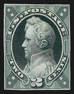 Sale Number 909, Lot Number 1240, 1870 Issue (National Bank Note Co.)National Bank Note Co., 2c Jackson, Unadopted Design, Large Die Essay on India (146-E7a), National Bank Note Co., 2c Jackson, Unadopted Design, Large Die Essay on India (146-E7a)