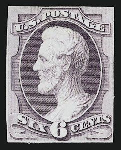 Sale Number 909, Lot Number 1245, 1870 Issue (National Bank Note Co.)National Bank Note Co., 6c Lincoln, Large Die Essay on India (148-E6), National Bank Note Co., 6c Lincoln, Large Die Essay on India (148-E6)