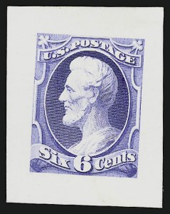 Sale Number 909, Lot Number 1246, 1870 Issue (National Bank Note Co.)National Bank Note Co., 6c Lincoln, Large Die Essay on India (148-E11), National Bank Note Co., 6c Lincoln, Large Die Essay on India (148-E11)