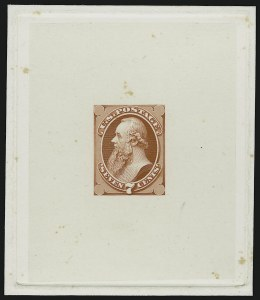 Sale Number 909, Lot Number 1247, 1870 Issue (National Bank Note Co.)National Bank Note Co., 7c Stanton, Large Die Essay on India (149-E6), National Bank Note Co., 7c Stanton, Large Die Essay on India (149-E6)