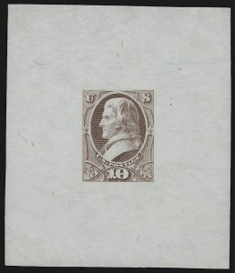 Sale Number 909, Lot Number 1249, 1870 Issue (National Bank Note Co.)National Bank Note Co., 10c Jefferson, Large Die Essay of Unadopted Design (150-E3a), National Bank Note Co., 10c Jefferson, Large Die Essay of Unadopted Design (150-E3a)