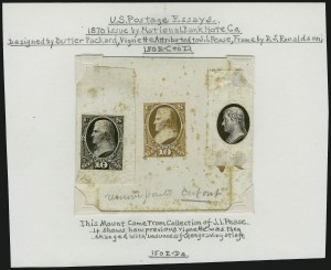Sale Number 909, Lot Number 1253, 1870 Issue (National Bank Note Co.)National Bank Note Co., 10c Jefferson, Die Essays (150-E4), National Bank Note Co., 10c Jefferson, Die Essays (150-E4)