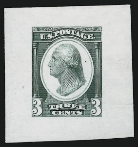 Sale Number 909, Lot Number 1315, Continental Bank Note Co.Continental Bank Note Co., 3c Washington, Die Essay on Proof Paper (184-E14c), Continental Bank Note Co., 3c Washington, Die Essay on Proof Paper (184-E14c)