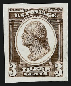 Sale Number 909, Lot Number 1316, Continental Bank Note Co.Continental Bank Note Co., 3c Washington, Die Essay on Proof Paper (184-E14c), Continental Bank Note Co., 3c Washington, Die Essay on Proof Paper (184-E14c)