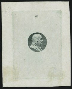Sale Number 909, Lot Number 1346, American Bank Note Co.[10c] Franklin, Vignette Only, Die Essay on Glazed Paper (209-E4b), [10c] Franklin, Vignette Only, Die Essay on Glazed Paper (209-E4b)