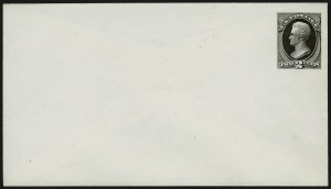 Sale Number 909, Lot Number 1353, American Bank Note Co.2c Black on White, entire, Essay (Undersander E36Ch), 2c Black on White, entire, Essay (Undersander E36Ch)