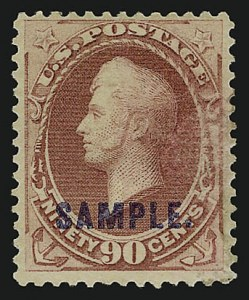 "Sale Number 909, Lot Number 1359, American Bank Note Co.1c-10c 1881-83 Issue, ""Sample"" Ovpt, 1c-10c 1881-83 Issue, ""Sample"" Ovpt"