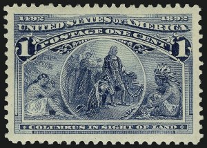 Sale Number 910, Lot Number 1, 1893 Columbian Issue1c Columbian (230), 1c Columbian (230)