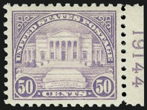 Sale Number 910, Lot Number 103, 1922 and Later Issues (Scott 537 to 573a)50c Lilac (570), 50c Lilac (570)