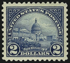 Sale Number 910, Lot Number 105, 1922 and Later Issues (Scott 537 to 573a)$2.00 Deep Blue (572), $2.00 Deep Blue (572)