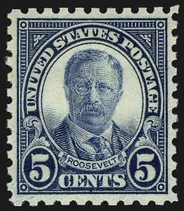 Sale Number 910, Lot Number 113, 1922 and Later Issues (Scott 578 to 594)5c Blue, Perf 10 (586), 5c Blue, Perf 10 (586)