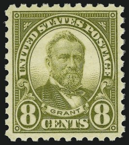 Sale Number 910, Lot Number 115, 1922 and Later Issues (Scott 578 to 594)8c Olive Green, Perf 10 (589), 8c Olive Green, Perf 10 (589)