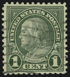 Sale Number 910, Lot Number 117, 1922 and Later Issues (Scott 578 to 594)1c Green, Rotary, Perf 11 (594), 1c Green, Rotary, Perf 11 (594)
