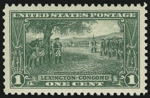 Sale Number 910, Lot Number 126, Later Issues (Scott 617 to 630)1c Lexington-Concord (617), 1c Lexington-Concord (617)