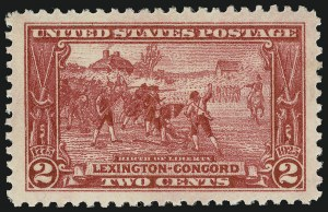 Sale Number 910, Lot Number 127, Later Issues (Scott 617 to 630)2c Lexington-Concord (618), 2c Lexington-Concord (618)