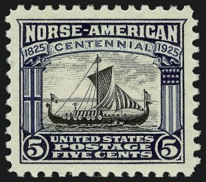 Sale Number 910, Lot Number 129, Later Issues (Scott 617 to 630)5c Norse-American (621), 5c Norse-American (621)