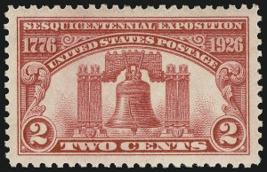 Sale Number 910, Lot Number 132, Later Issues (Scott 617 to 630)2c Sesquicentennial (627), 2c Sesquicentennial (627)