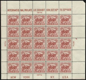 Sale Number 910, Lot Number 134, Later Issues (Scott 617 to 630)2c White Plains Souvenir Sheet (630), 2c White Plains Souvenir Sheet (630)