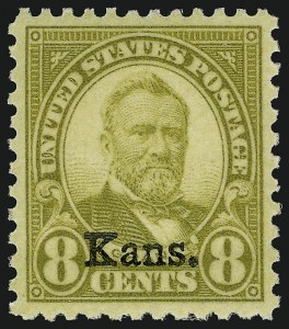 Sale Number 910, Lot Number 152, Later Issues (Kans-Nebr. overprints)8c Kans. Ovpt. (666), 8c Kans. Ovpt. (666)