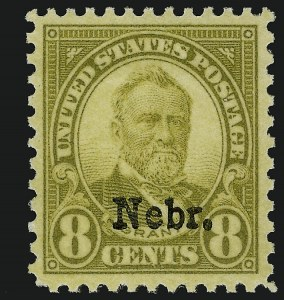 Sale Number 910, Lot Number 159, Later Issues (Kans-Nebr. overprints)8c Nebr. Ovpt. (677), 8c Nebr. Ovpt. (677)