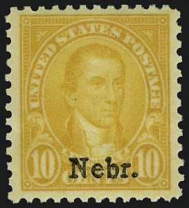 Sale Number 910, Lot Number 161, Later Issues (Kans-Nebr. overprints)10c Nebr. Ovpt. (679), 10c Nebr. Ovpt. (679)