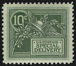Sale Number 910, Lot Number 207, Special Delivery10c Green, Special Delivery (E7), 10c Green, Special Delivery (E7)