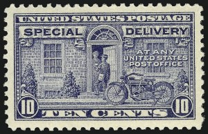 Sale Number 910, Lot Number 215, Special Delivery10c Gray Violet, Special Delivery (E12), 10c Gray Violet, Special Delivery (E12)