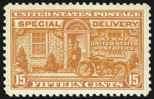 Sale Number 910, Lot Number 216, Special Delivery15c Deep Orange, Special Delivery (E13), 15c Deep Orange, Special Delivery (E13)