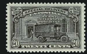 Sale Number 910, Lot Number 218, Special Delivery20c Black, Special Delivery (E19), 20c Black, Special Delivery (E19)