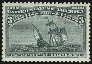 Sale Number 910, Lot Number 5, 1893 Columbian Issue3c Columbian (232), 3c Columbian (232)