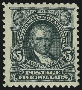 Sale Number 910, Lot Number 51, 1902-08 Issues$5.00 Dark Green (313), $5.00 Dark Green (313)
