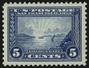 Sale Number 910, Lot Number 77, 1913-15 Panama-Pacific Issue5c Panama-Pacific (399), 5c Panama-Pacific (399)