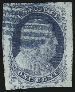 Sale Number 913, Lot Number 534, 1c 1851-56 Issue1c Blue, Ty. II (7), 1c Blue, Ty. II (7)