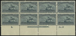 Sale Number 913, Lot Number 781, 1893 Columbian Issue3c Columbian (232), 3c Columbian (232)