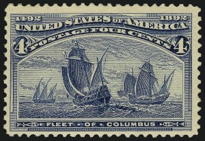Sale Number 913, Lot Number 782, 1893 Columbian Issue4c Columbian, Error of Color (233a), 4c Columbian, Error of Color (233a)
