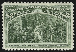 Sale Number 913, Lot Number 785, 1893 Columbian Issue$3.00 Olive Green, Columbian (243a), $3.00 Olive Green, Columbian (243a)
