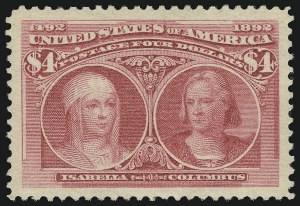 Sale Number 913, Lot Number 786, 1893 Columbian Issue$4.00 Columbian (244), $4.00 Columbian (244)