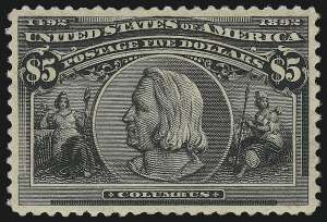 Sale Number 913, Lot Number 788, 1893 Columbian Issue$5.00 Columbian (245), $5.00 Columbian (245)