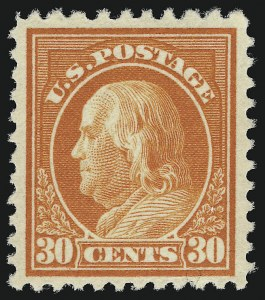 Sale Number 913, Lot Number 867, 1912-23 Issues (Scott 501c thru 545)30c Orange Red, Perf 10 at Top (516a), 30c Orange Red, Perf 10 at Top (516a)